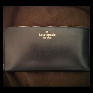 Authentic Kate Spade Black continental wallet