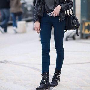 Tuxedo Stripe Skinny Jeans