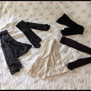 5 pair hosiery pantyhose tights jeggings H&M S/M
