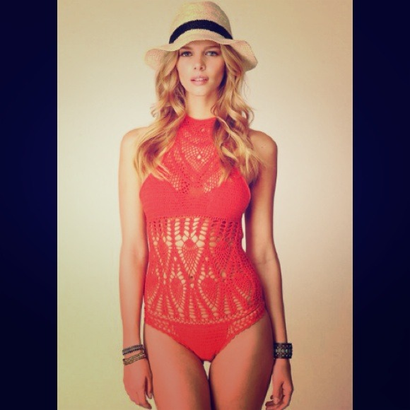 Free People Swim Sold Lisa Maree Crochet Monokini Suit M Poshmark