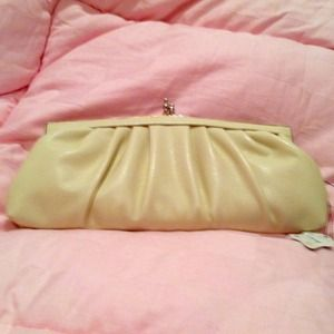 New clutch in beige