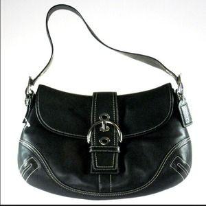 white prada clutch - black coach purse blue lining on Poshmark