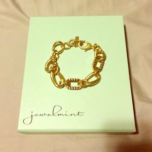 Jewelmint gold chain bracelet