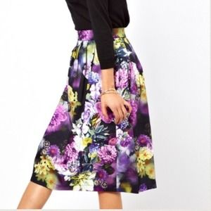 ❗SALE❗ASOS NWT Statement Floral Print Midi Skirt