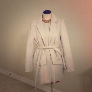 J Crew grey wool dress coat