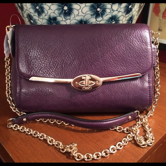 Coach Clutches & Wallets - Coach Madison Leather Chain Crossbody/Clutch