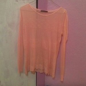 RARE Brandy melville pretty peach pink knit