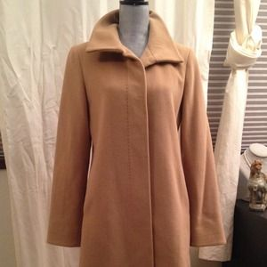 Camel Color Wool Trench Coat