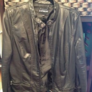 Express Jackets & Blazers - Express Biker Jacket (Animal Friendly)