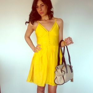 Yellow Baby-doll Dress