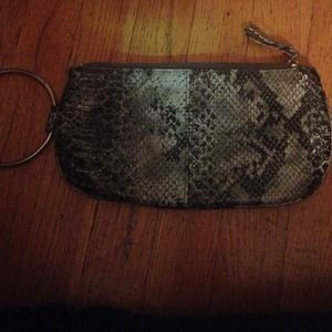 Alligator skin clutch