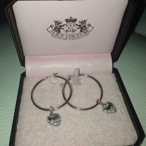 New juicy couture hoop earrings