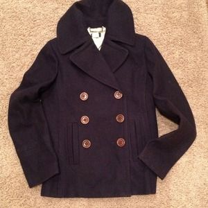 J crew pea coat navy blue