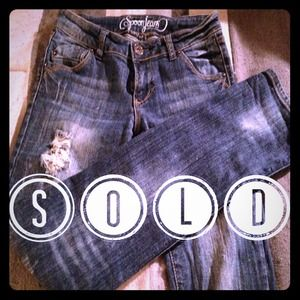 Ultra Comfy Distressed Denim