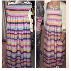 Pastel Maxi Dress size S/M