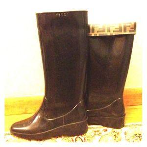Fendi rain boots.