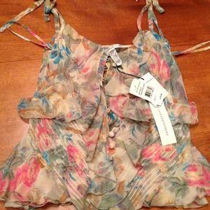 Diane von Furstenberg silk floral cami