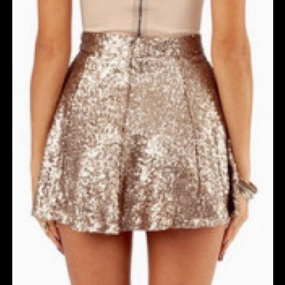 40% off Tobi Dresses & Skirts - Gold Sequin Skater Skirt! NWOT ...