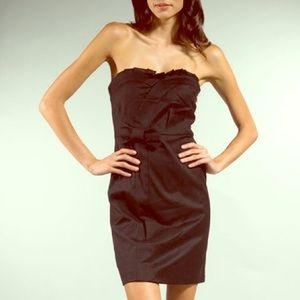 Juicy Couture Dresses & Skirts - Juicy Couture Bow Black Strapless Wool Dress