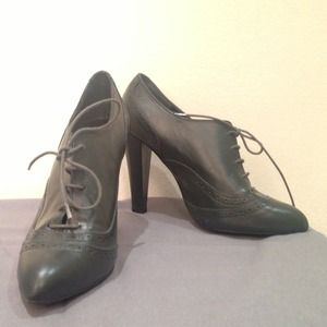 Zara Ankle Booties Dark Green