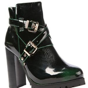 New Jeffrey Campbell Green Boots Size 8
