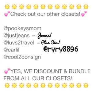Bundle & save from 6 closets! Discounts