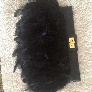 Gorgeous Feather Clutch!!