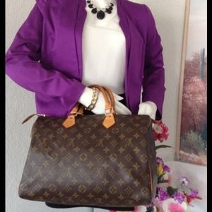 No longer avail% Auth Louis Vuitton Speedy 35
