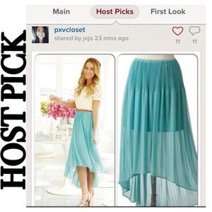 🎉HOST PICK🎉Lauren Conrad Hi-Low Chiffon Skirt
