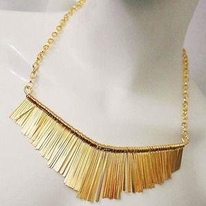 PM Editor Pick Gold Tassel Necklace