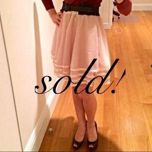 Pretty Pale Pink Circle Skirt