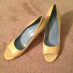 Nine West open toe heels