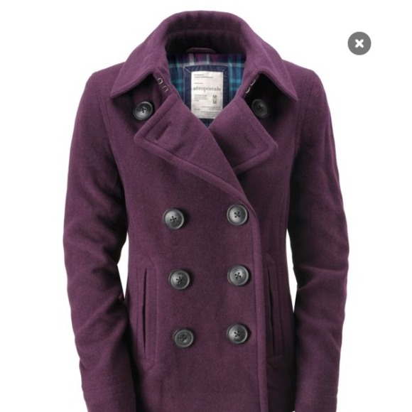 79% off Aeropostale Outerwear - Reduced! purple/eggplant wool pea