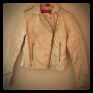 Jackets & Blazers - Gold Metallic Biker Jacket