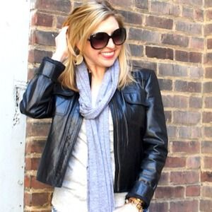 DKNY Jackets & Blazers - DKNY City black leather jacket