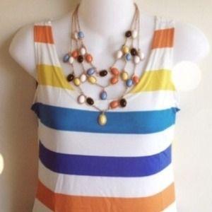 Reduced! Multi colored tunic & necklace!