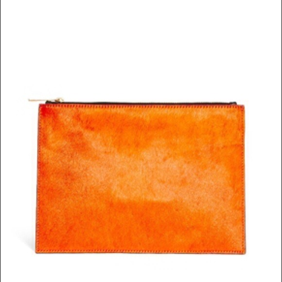 ASOS Bags - New ASOS Orange Leather Clutch Bag In Pony 🎉🎉 HP