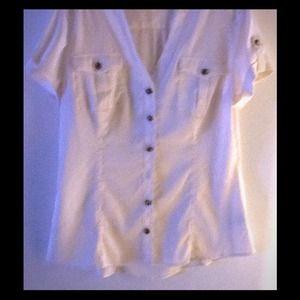 Express white silk blouse