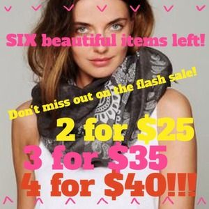 FLASH SALE! 4 for $40!!! 3 for $35!!! 2 for $25!!!