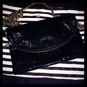 Henri Bendel  Handbags - Henri Bendel Black Patent leather Crossbody clutch