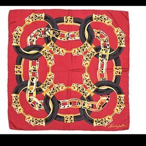 Kenneth Jay Lane Leopard Bangle Silk Scarf