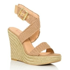 Shoes - ☀️ Tan Crisscross Espadrilles (Wedges) 7