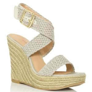 Shoes - ☀️ Stone Crisscross Espadrilles (Wedges) 7