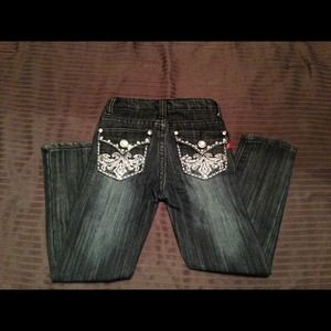 Pants - Girls Embellished Skinny