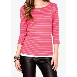 Tops - Pink White Stripe Top