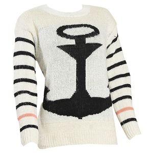Women's Anchor Printed Knitwear Sweater