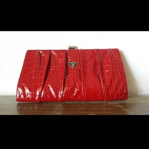 Red clutch!!! Hottest faux red leather!!