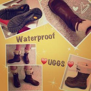 🎉HP10/1 EUC Uggs Tall Waterproof LeatherSheepskin