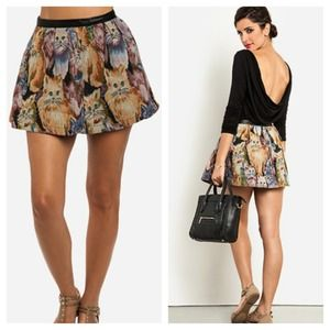 🐱 Tapestry Cat Circle Skirt - M