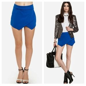 Dresses & Skirts - 💙 Cobalt Asymmetrical Skort Skirt M